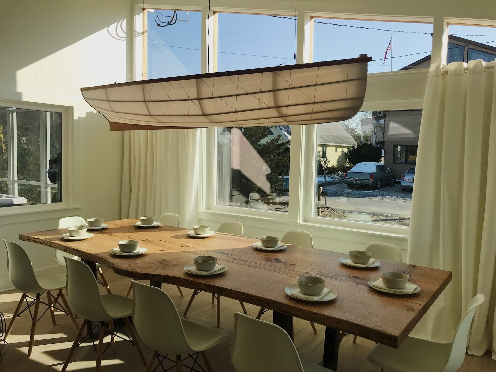 Lighting John Murray To Create A Stunning Nautical Inspired Light Fixture That Illuminates Through The Front Windows Finished Dining Room