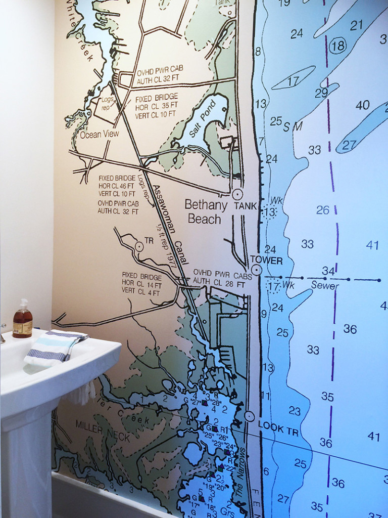 The Big Easy custom wallpaper map of the beach